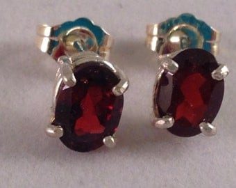 Cute Garnet Earrings