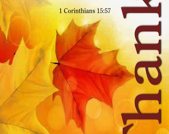 Victory through our Lord Jesus Christ / Church or Personal Home or Office (G5015-1)
