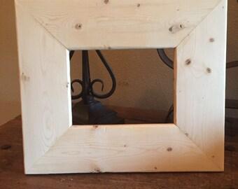 Rustic wood frame