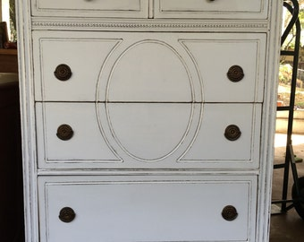 SHABBY CHIC DRESSER...Farmhouse Style, Antique, Vintage, Repurposed