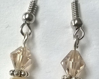 Glass Champagne earrings