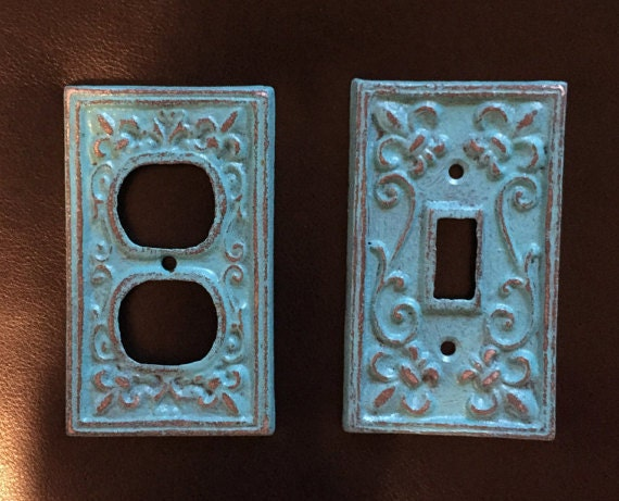 Items Similar To Outlet Covers Switchplates Shabby Chic