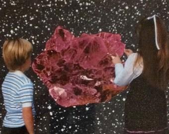 """Vintage Collage: """"Crystal Glacier"""" by Sean Gadoury"""