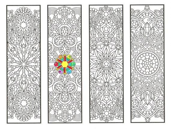 Famoso Colorare i segnalibri Crystal mandala pagina 1 disegni da WS17