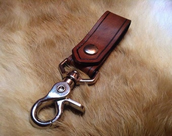 Leather key keeper 1 inch wide