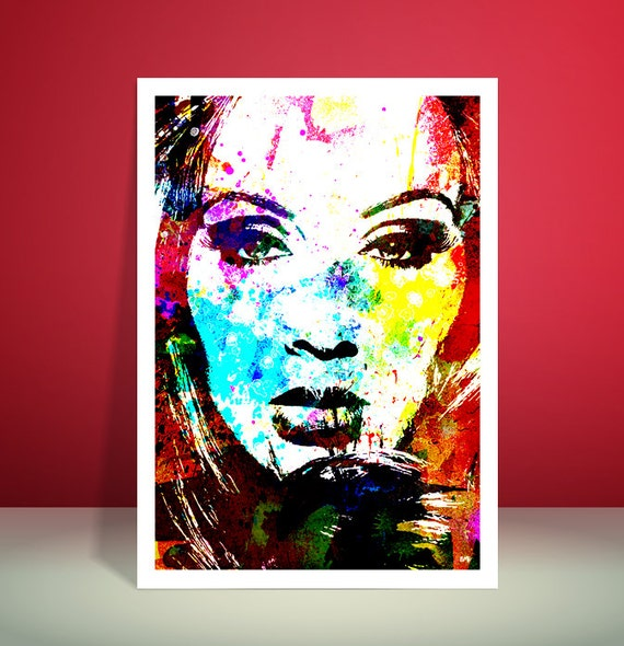 Adele // A3 Water Color Effect // Unique A4 / A3 Art Print