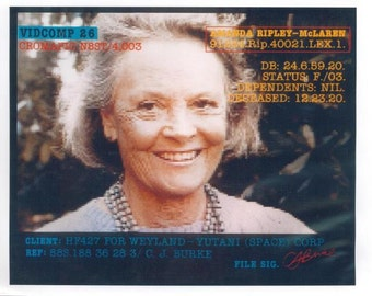 1986 ALIENS Movie 8x10 Photograph LT. Ripley Daughter Amanda Ripley-McLaren