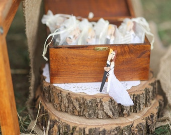 Personalised wedding favors clothespins B&W