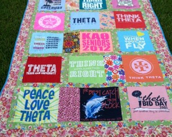NON-Traditional Style tshirt Quilt - Deposit