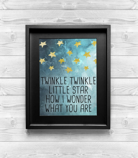 Printable Art - Twinkle, Twinkle, Little Star -  Baby Room Decor