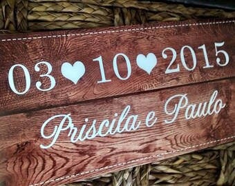 Save the Date card Wood type