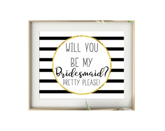 Will You Be My Bridesmaid Printable - Will You Be My Maid Of Honor - Bridesmaid Proposal Card - Maid Of Honor Invite - Bridesmaid Invite