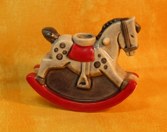 Little Rocking Horse Candle Holder by Goebel 1975 w. Germany
