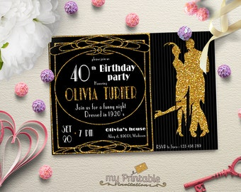 Roaring Twenties Invitation / Printable