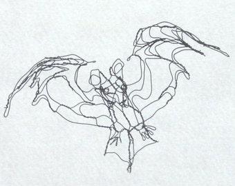 """Wire Art 4"""" Bat by Master Wire Sculptor Elizabeth Berrien"""