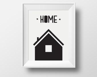 home print, print home, kids room print, kids room décor, black home print, kids poster, kids modern, kids modern poster