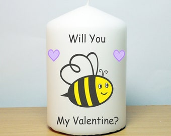 Will You Bee My Valentine Candle