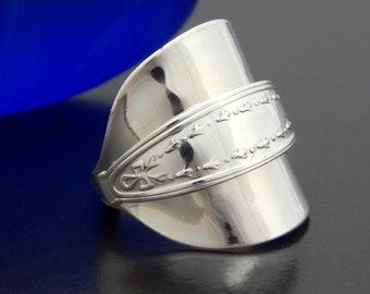 vintage demitasse silver spoon ring vintage solid silver
