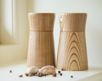 Salt & Pepper Mills in Birch / Sycamore - Truly a very special one off pair...