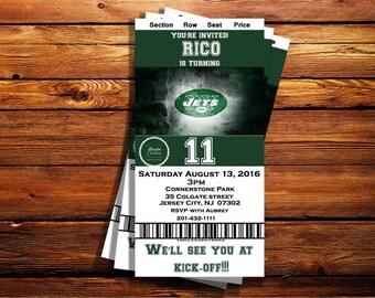NY Jets Ticket Birthday Invitation-Can be customized to any occasion