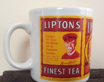 Vintage Lipton's Tea Advertising Mug