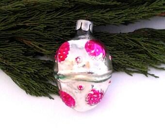 Rare Soviet Christmas tree decoration / Glass Xmas ornament / New Year / USSR, 1950s