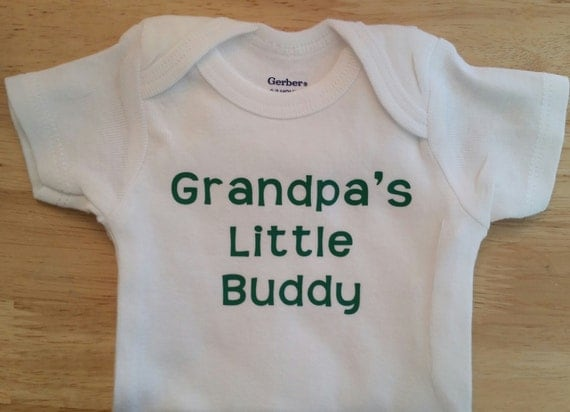 Grandpa Baby Outfit Grandpa Baby Bodysuit Grandpa Baby: Grandpa's Little Buddy Onesie Grandpa Onesie By