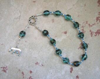 Taweret (Tauret) Pocket Prayer Beads: Egyptian Goddess of Fertility, Motherhood, Childbirth