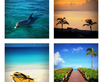 Providenciales, Turks and Caicos Custom Tile Photo Coasters