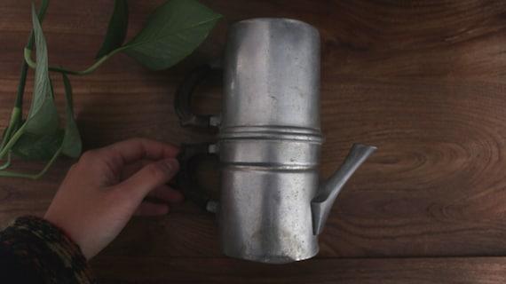 Coffee Maker Made In France : Vintage aluminum coffee maker Neapolitan flip coffee pot