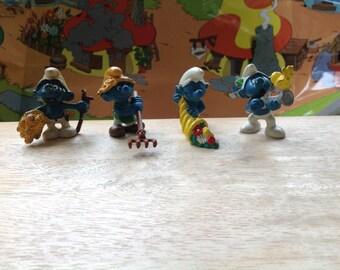 Vintage lot of Smurfs