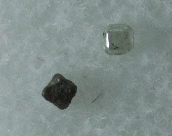 Diamond, two cubic crystals, Venezuela, Mineral Specimen for Sale
