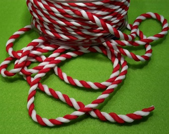 Red & White Twisted Cord / Rope