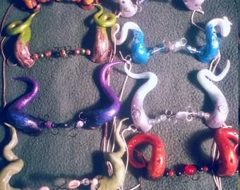 Fantasy horns, costume accessory horns polymer clay horns