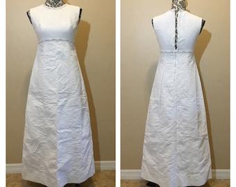 Vintage 70s White Wedding Dress | Vintage White Prom Dress