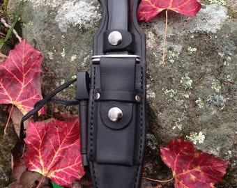 Made for your knife ~  Bushcraft  Knife Sheath Stone Pouch