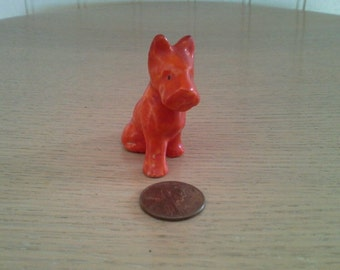 Scottish Terrier Made in Germany ~ Gorgeous High Glaze Red
