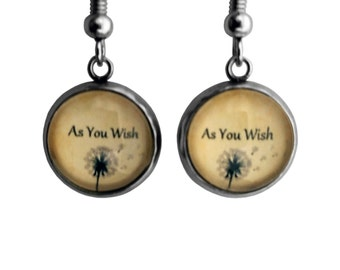 "Princess Bride ""As You Wish"" Earrings"