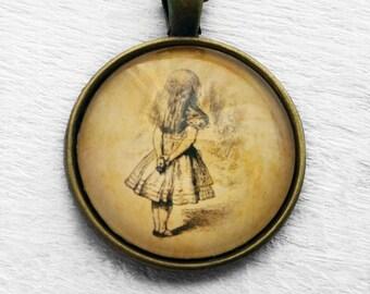 Alice in Wonderland - Art - Alice Watching - Pendant & Necklace