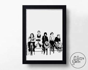 THE BREAKFAST CLUB - Sincerely Yours - John Hughes -  Hand-Drawn Film Art Print/ Movie Poster