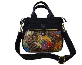 Shoulder bag black gold Angel Angel handbag shoulder bag black with lamp with lamp-very nice!