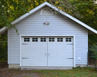 Vinyl Faux Carriage Garage Door