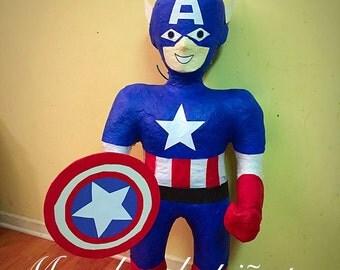 captain america pinata, super hero pinata, superhero pinata,pinatas,