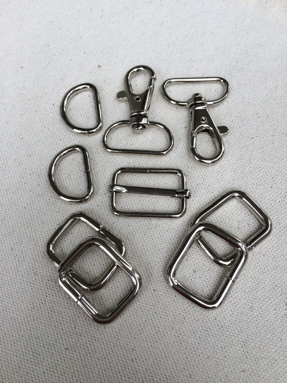 Amber swoon hardware kit swivel clips d rings rectangle