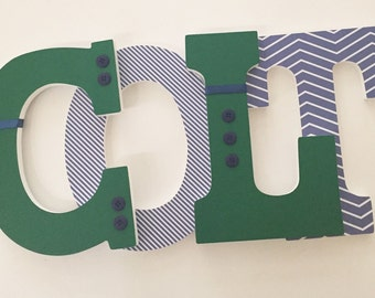 Custom Boys Nursery Letters, Baby Wood Letters, Boy Nursery Decor, Nursery Wall Hanging Letters
