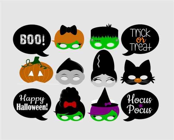 halloween photo booth props printable pdf