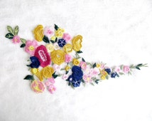 Floral  Embroideried Patch Flower Applique Sew On Embellishment Fashion  Crafts DIY Craft Costume Decorations