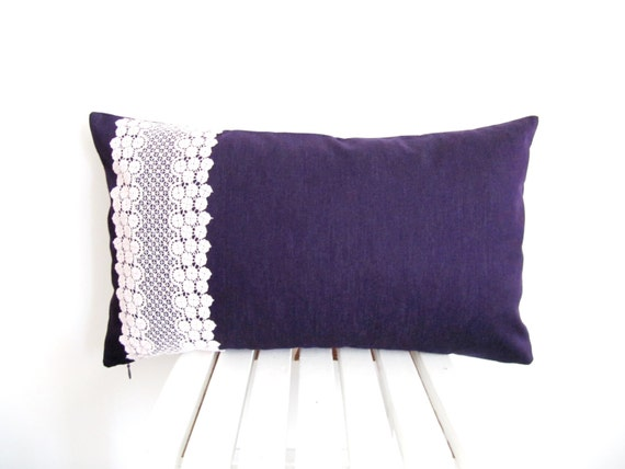 Lace Throw Pillow Covers : Lace Pillow Case/Lace Pillow Cover/ Lumbar Cushion by byGuls