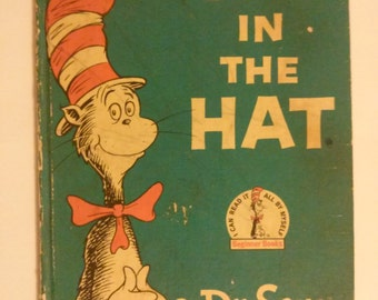 Vintage Cat in the Hat book