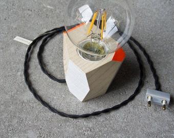 Wooden handmade lamp
